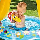 Надувний дитячий басейн Intex «ГРИБОЧОК» для дітей, для сім'ї, дачі, літа, пляжу, фото 2