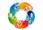 Надувной круг с ручками Intex 58202 119 см Цветная капля , фото 2