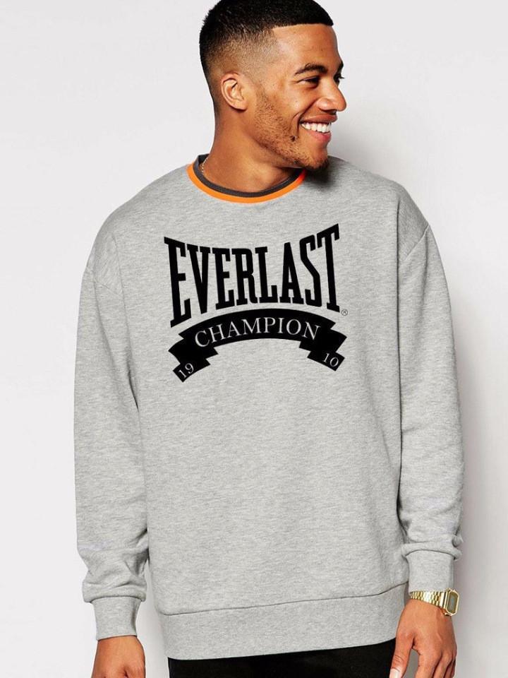 Серая мужская спортивная кофта Everlast (Эверласт)