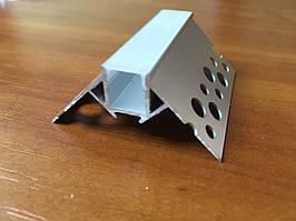 Угловой Штукатурный Led-профиль ЛПШ-УН + линза матовая