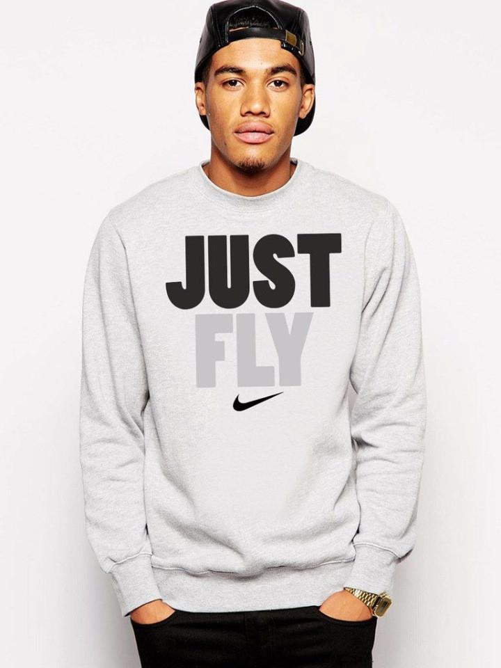 Чоловічий спортивний світшот Nike (Найк), сірий