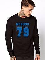 Черная мужская спортивная кофта Reebok (Рибок)