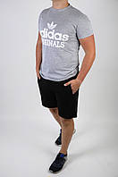 Футболка + шорты Adidas (мужской летний костюм Adidas). ТОП качество!!!, фото 1