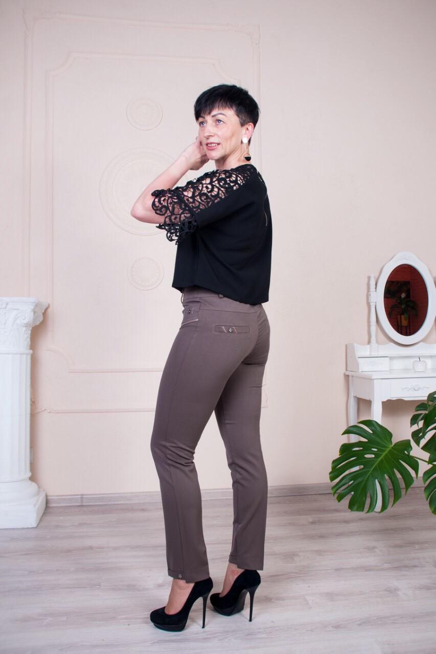 Стильные брюки Молли ле19 бежевого цвета