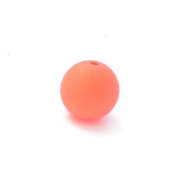 12мм (лосось) круглая, силиконовая бусина