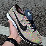 """Мужские кроссовки Nike Flyknit Racer """"Multicolor"""" в сеточку. Живое фото (Реплика ААА+), фото 2"""