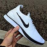 """Мужские кроссовки Nike Air Zoom Mariah Flyknit Racer """"Pure Platinum"""" в сеточку. Живое фото (Реплика ААА+), фото 2"""