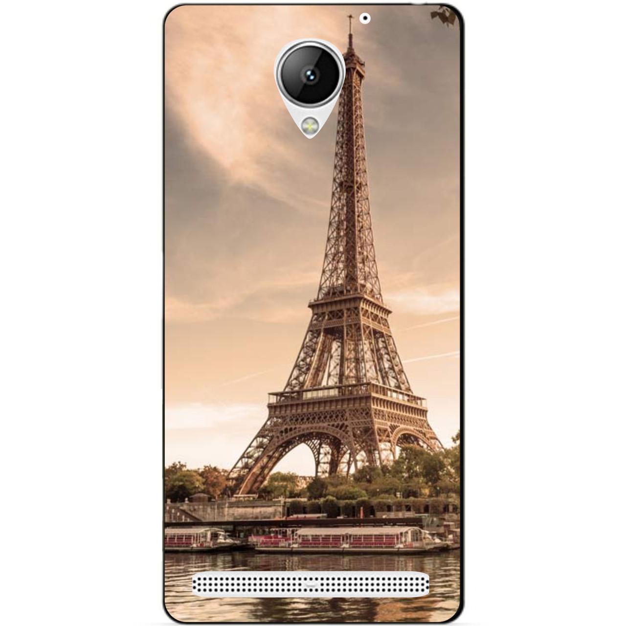 Силиконовый чехол бампер для Lenovo Vibe C2 k10a40 с рисунком Париж