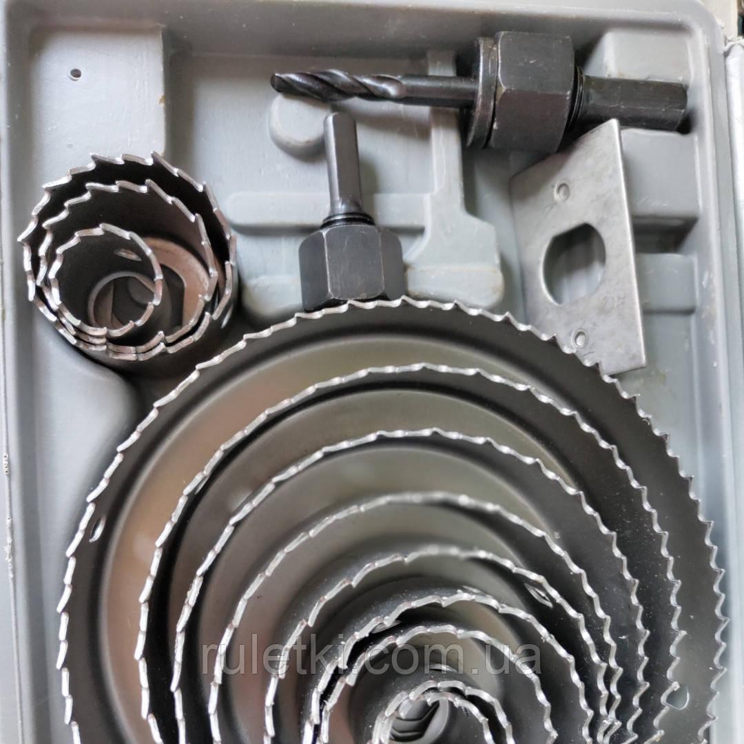 Наборы коронок по гипсокартону, пластику и дереву 16 шт (19-127)