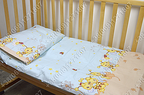 """Детское постельное белье в кроватку """"Бим Бом"""" комплект 5 ед. (пчелка голубой), фото 3"""