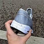 Мужские кроссовки Nike SB Stefan Janoski MAX Gray&White в сеточку. Живое фото (Реплика ААА+), фото 3