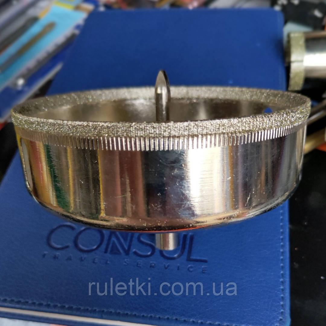 Сверло алмазное трубчатое с направляющим по плитке 120 мм