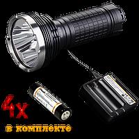 Фирменный поисковый набор Fenix TK75 U2 + зарядка Fenix + 4 ак Fenix