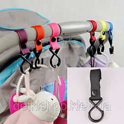 Гачки для коляски (пластик, чорні)