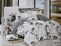 Сатиновое постельное белье евро с наволочками 70х70 см ELWAY 5014