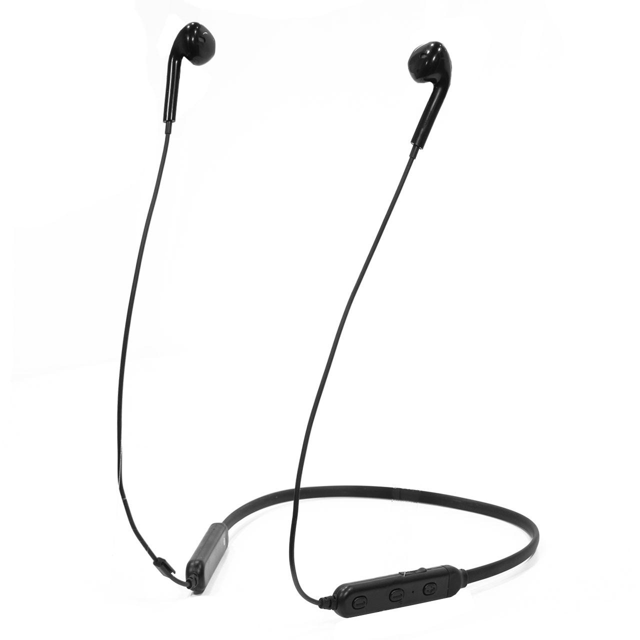 ϞBluetooth гарнитура Moloke S6 Black беспроводная Блютуз 5.0 музыкальная для смартфонов