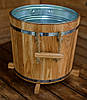 Кадка для растений 32 литра с металлической вставкой (ясень)