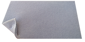 Потолочная ткань для салона автомобиля темно-серого цвета (автовелюр на поролоне с сеткой)
