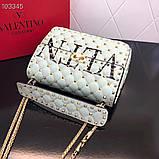 Сумка, клатч от Валентино Rockstud 24 см кожаная реплика, фото 4