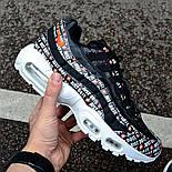 """Мужские кроссовки Nike Air Max 95 Just Do It """"Pack Black"""" с балоном черные Живое фото (Реплика ААА+), фото 2"""