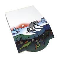 Бумажный 3D-блок для записей «Лиса и Волк», серия «Сказки», фото 1