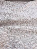 Льняная жаккардовая глянцевая ткань (шир. 150 см), фото 1