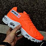 "Мужские кроссовки Nike TN Air Max Plus Just Do It ""Pack Orange"" с балоном оранжевые. Живое фото (Реплика ААА+), фото 2"