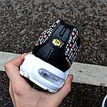 "Мужские кроссовки Nike TN Air Max Plus Just Do It ""Pack Black"" с балоном черные. Живое фото (Реплика ААА+), фото 3"
