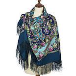 Царевна Несмеяна 1541-12, павлопосадский платок шерстяной  с шелковой бахромой, фото 2