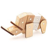 Магнитный деревянный конструктор Зевс Зоопарк 19 деталей (З-06)