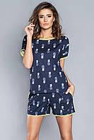 Пижама хлопковая женская с шортиками Italian Fashion ORESTA