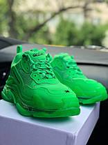 Новинка! Женские кроссовки в стиле Balenciaga Triple S Neon Green (36, 37, 38, 39, 40 размеры), фото 3