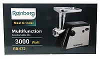 Электромясорубка соковыжималка Rainberg RB-672 (реверс) 3000W, фото 1