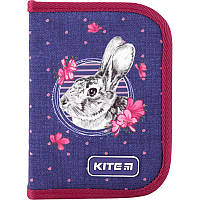 Пенал с наполнением Kite Fluffy bunny K19-622H-3, 1 отделение, 2 отворота