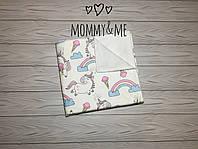 Непромокаемая пеленка 50/80 см хлопок+махра пони и радуга