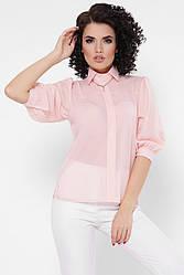 "Легкая блузка с широкими рукавами-фонариками ""Arya"" персиковая"