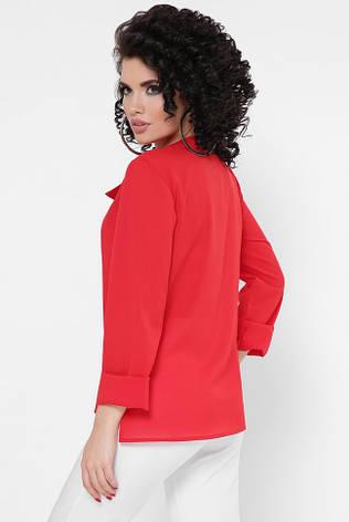 """Красивая блузка с длинными рукавами и застежкой сбоку  """"Constance"""" красная, фото 2"""