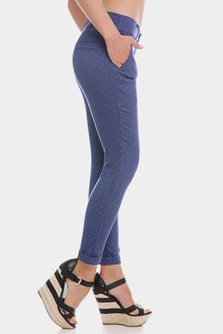 Укороченные синие женские брюки COTTON BENGALIN DESIGN, фото 2