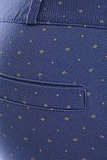 Укороченные синие женские брюки COTTON BENGALIN DESIGN, фото 3