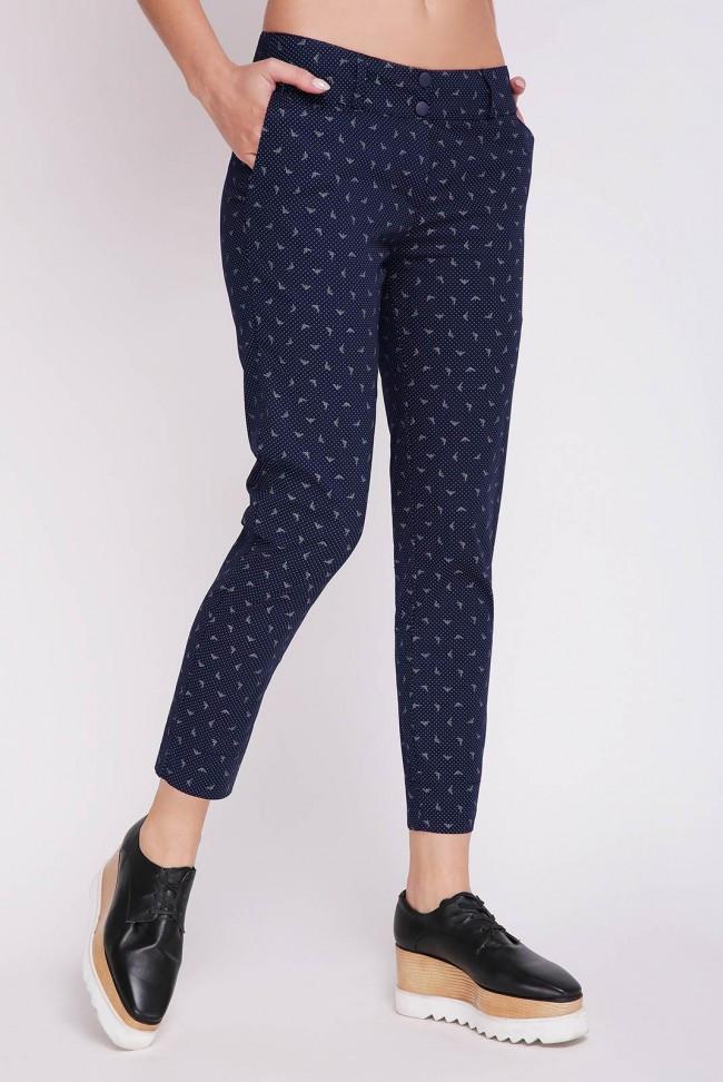 Короткие летние женские брюки темно-синие