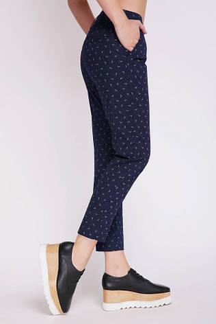 Короткие летние женские брюки темно-синие, фото 2