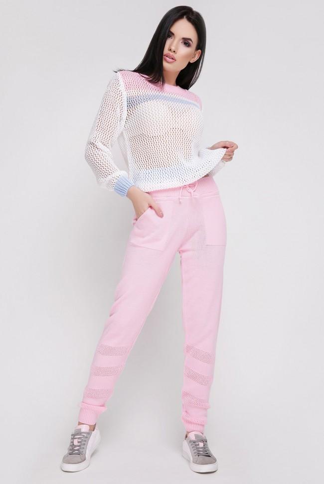 """Розовый вязаный женский костюм """"TISSU"""""""