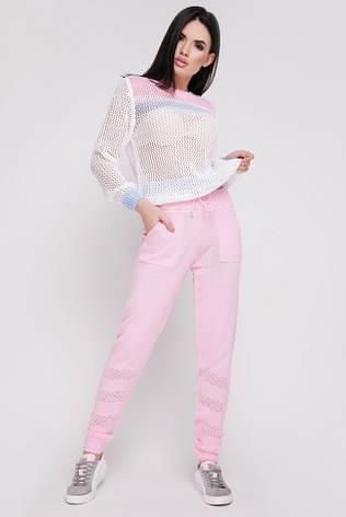"""Розовый вязаный женский костюм """"TISSU"""", фото 2"""