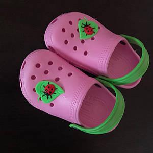Кроксы - сабо для девочки, размеры 5-12 лет