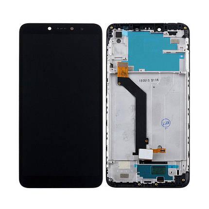 Дисплей (экран) для Xiaomi Redmi S2 (Redmi Y2) с сенсором (тачскрином) и рамкой черный Оригинал, фото 2