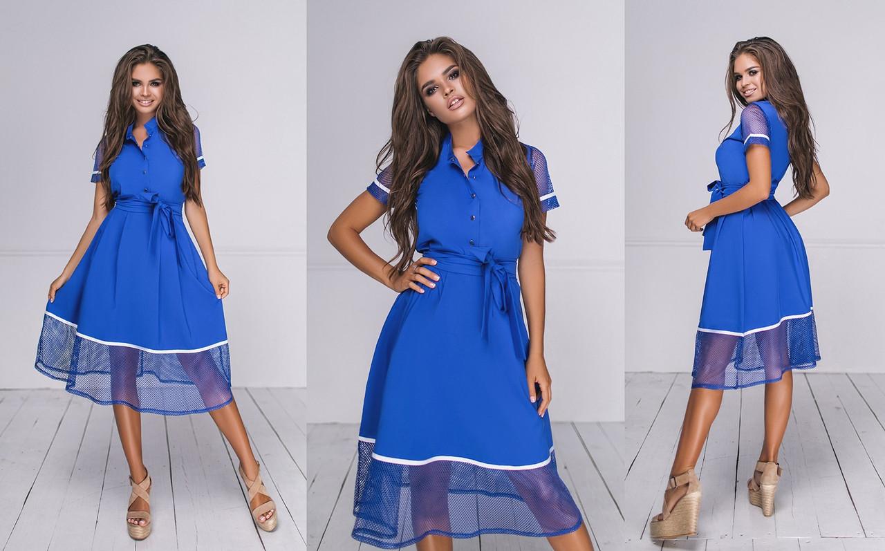 Платье  миди в расцветках  704038