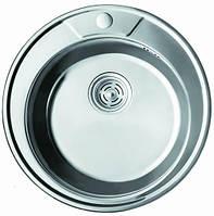 Мойка кухонная Cristal UA7104ZS (ROMA) круглая врезная 490x180 Polish