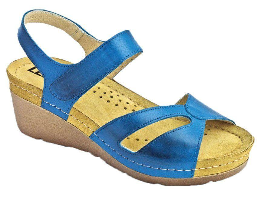 Сандалии на платформе Leon 1056, цвет синий, размер 36