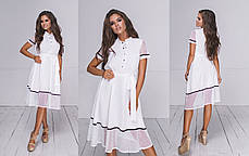 Платье  миди в расцветках  704038, фото 3