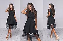 Платье  миди в расцветках  704038, фото 2